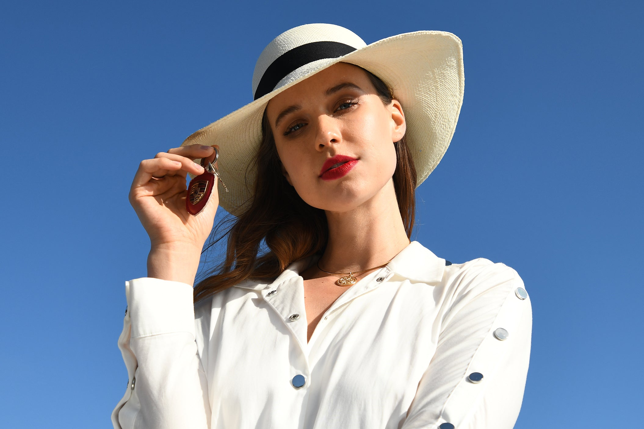 foldable women's panama hat with tube