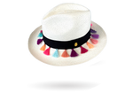 Panama Hat for girls hand woven with tassels