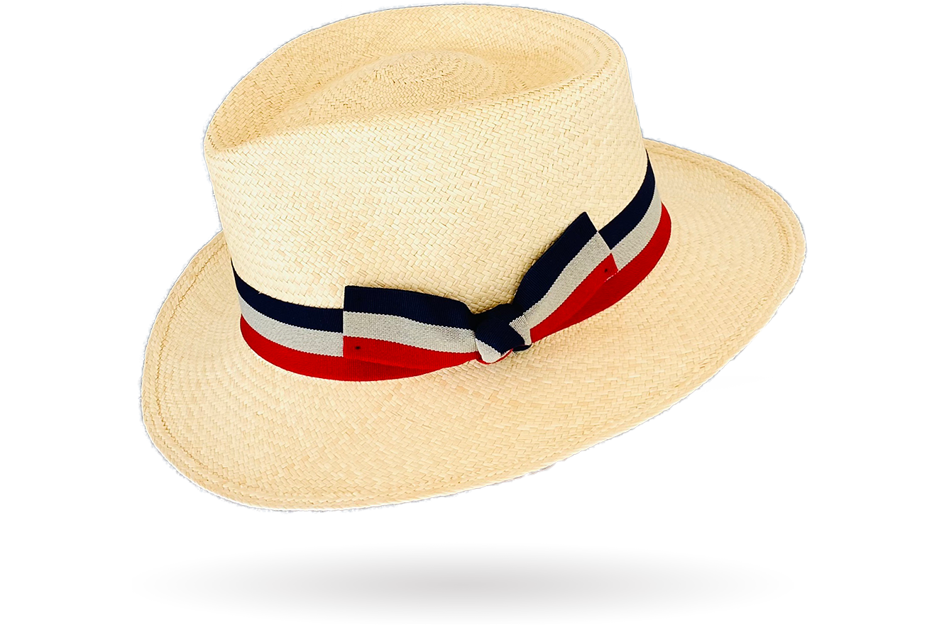 Teardrop Panama Hat by La Marqueza Hats Italian bow