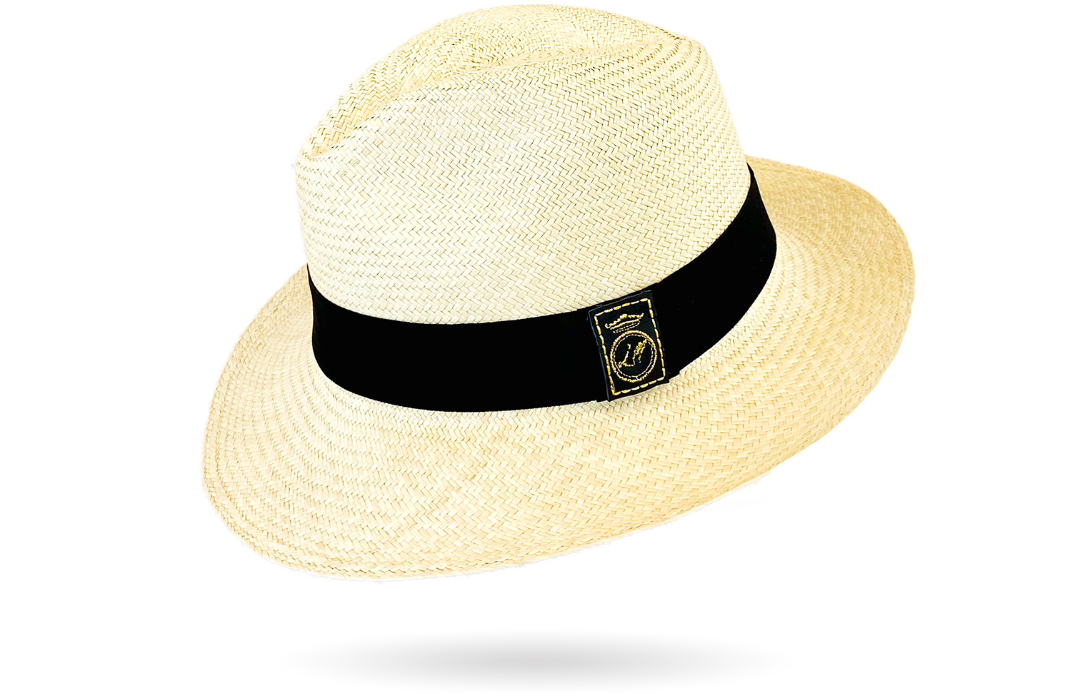 urban panama hat with leather
