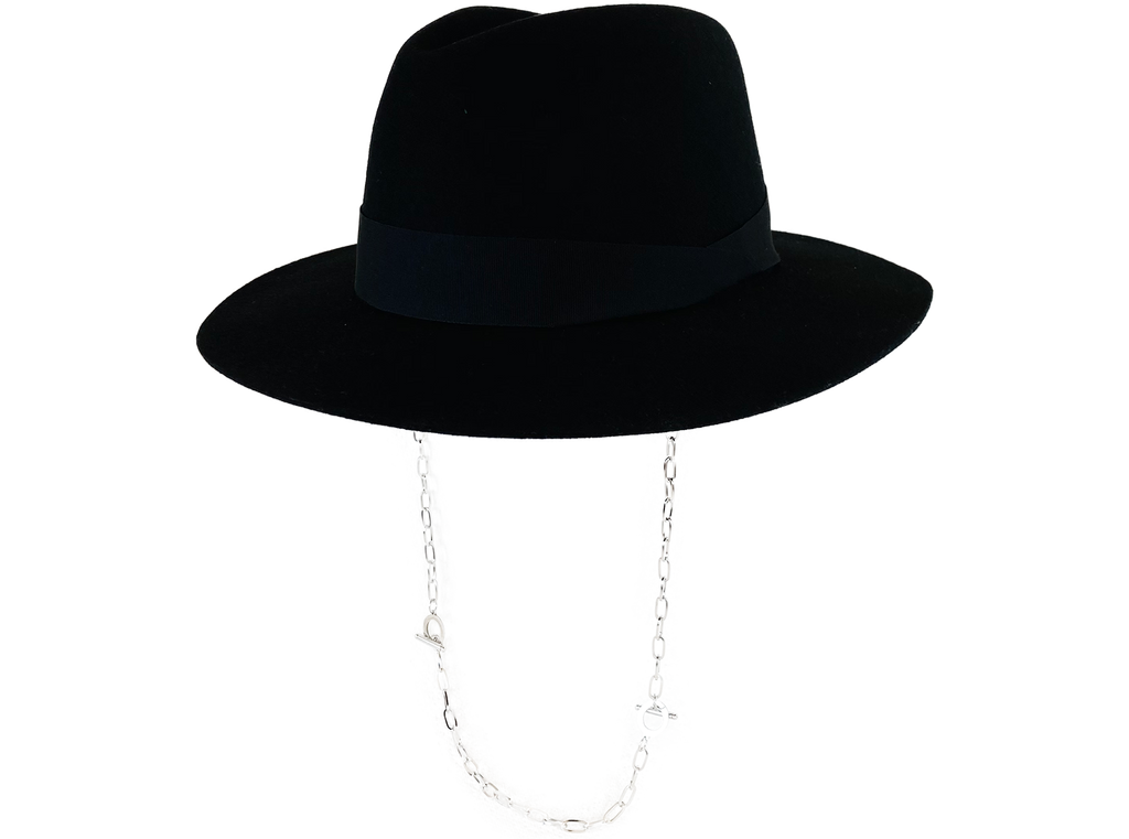 fedora chain valentino black hat