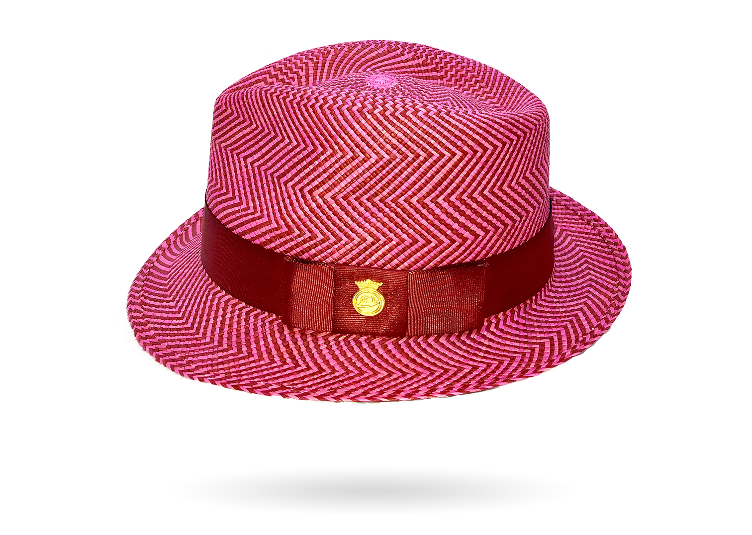 Pink striped exclusive Panama Hat