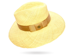 Wide Brim Gold Panama Hat