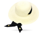 Panama Hat with adjustable straps by La Marqueza Hats UK