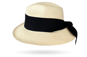 Maxi Bow Panama Hat Fedora Ladies