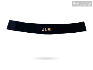 Black Grosgrain Ribbon Hatband Change With Your Initials (Available Only With A Hat Purchase)