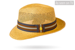 New! Caramel Trilby Open Crown Vented Panama Hat Snap Brim Colour Panama Hat