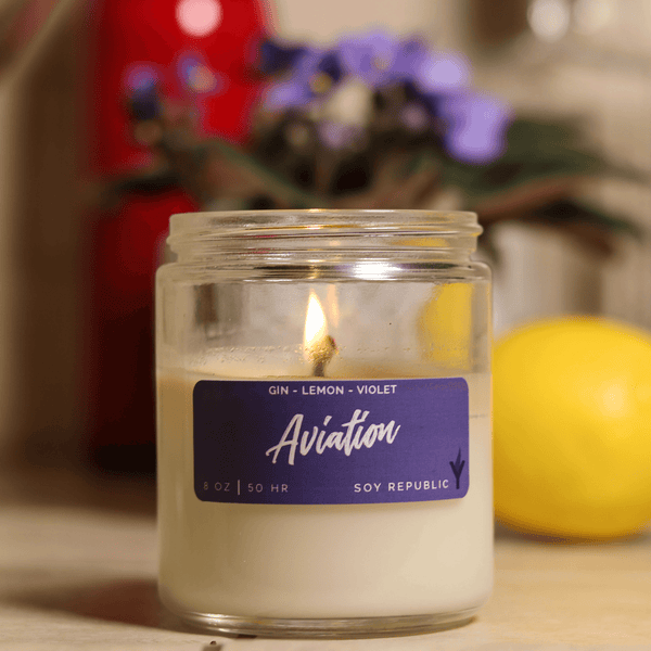 Soy Republic - Aviation - Cocktail Candle