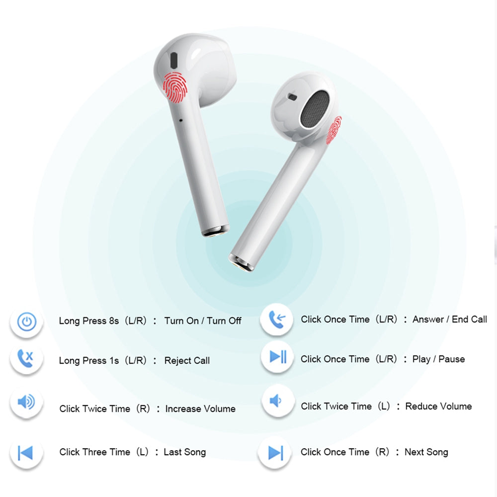 i20 TWS Pop-up Air Wireless Bluetooth Earphones Touch