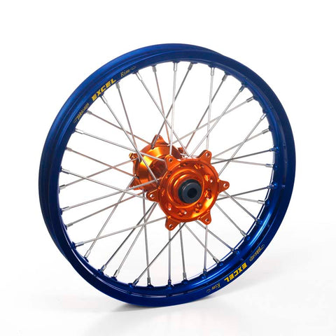 ROUE AVANT HAAN WHEELS 19X1,40X32T JANTE BLEUE / MOYEU ORANGE 85 SX 2012-2019