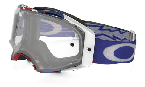 MASQUE OAKLEY Airbrake High Voltage RWB blanc écran transparent