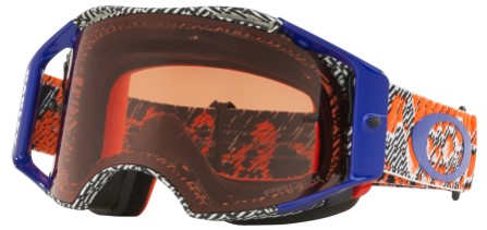 MASQUE OAKLEY Dazzle Dyno Orange/Blue écran Prizm MX Bronze