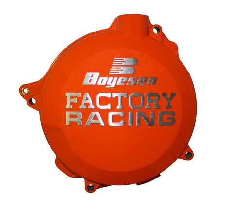 Couvercle de carter d'embrayage BOYESEN Factory Racing alu couleur Orange  KTM SX-F250/350 Husqvarna FC250/350