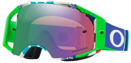 MASQUE OAKLEY Airbrake Pinned Race Blue/Green écran Prizm MX Jade Iridium