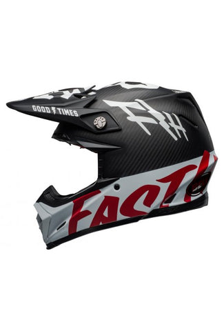 Casque BELL Moto-9 Flex Fasthouse WRWF Gloss Black/White/Red
