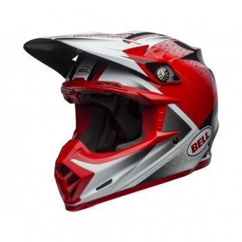 Casque BELL Moto-9 Flex Hound Matte/Gloss Red/White/Black