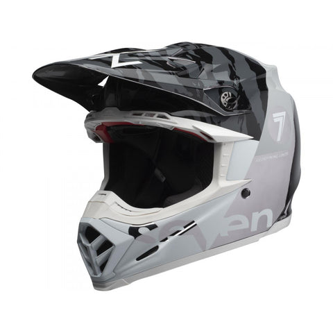 Casque BELL Moto-9 Flex Seven Zone Gloss Black/White/Chrome