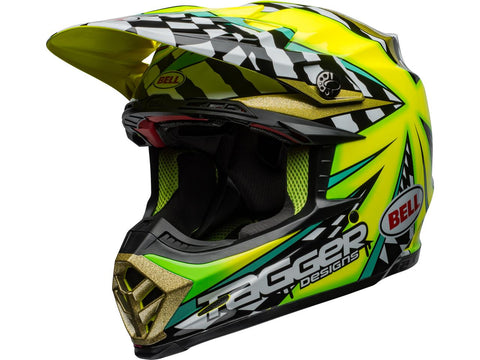 Casque BELL Moto-9 Flex Tagger Mayhem Gloss Green/Black/White