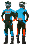 Tenue Oneal Element Racewear Noir/Bleu/Orange