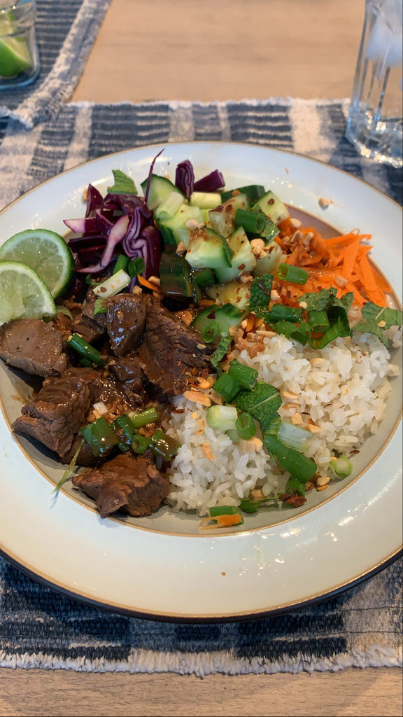 Recipe: Vietnamese Flank Steak and Crispy Rice Bowl