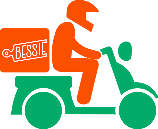 bessie box moped delivery icon