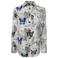 Andro overshirt in botany print (butterfly print)