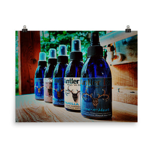 Antler Ice Bottle Poster