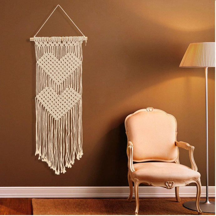 2Hearts Macrame Wall Hanging