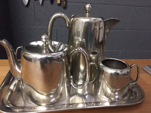 Vintage coffee and tea set silver plated
