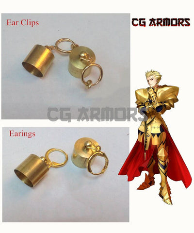 Fate Grand Order Archer Gilgamesh Cosplay Earrings/ Ear Clips - cgarmors