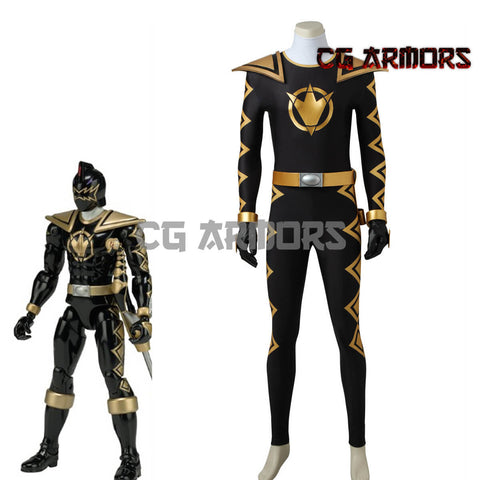 Power Rangers Dino Thunder Black Dino Ranger Tommy Oliver Cosplay Costume & Boots - cgarmors