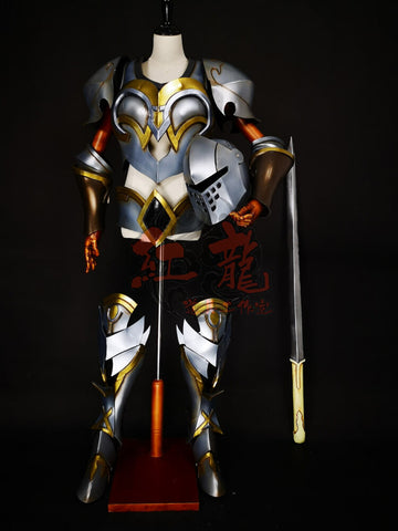 Fate Grand Order Sadman Archer Tristan Cosplay Armor & Helmet & Weapon