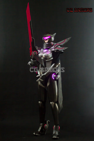 League Of Legends LOL PROJECT The Grand Duelist Fiora Laurent Lightable Cosplay Armor - cgarmors