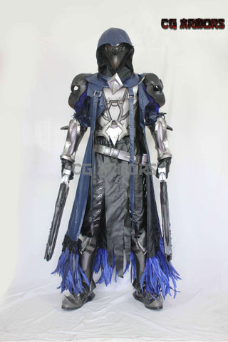 Overwatch OW Reaper Gabriel Reyes Nevermore Full Set Cosplay Costumes, Mask, Guns, Armors Boots