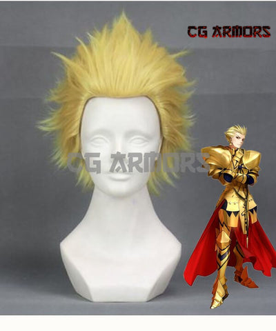 Fate Grand Order Fate Stay Night Gilgamesh Golden Cosplay Wig - cgarmors