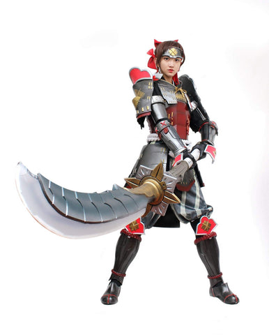 Monster Hunter Swordsman Female Cosplay Armor & Weapon - cgarmors