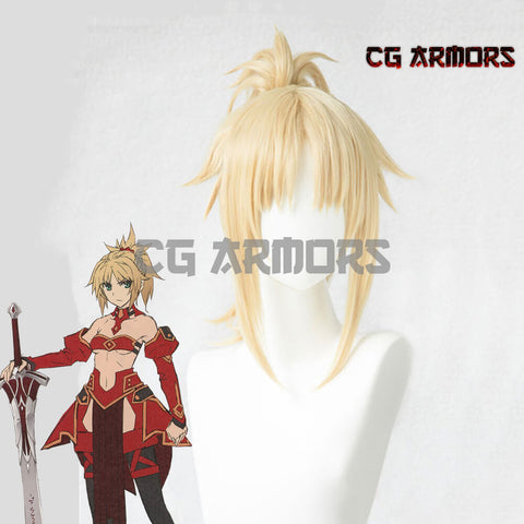 Fate Apocrypha Saber Of Red Mordred Golden Cosplay Wig