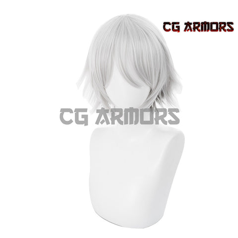 Fate Grand Order FGO Saber Prince Of Lan Ling Gradient Sliver Grey Cosplay Wig