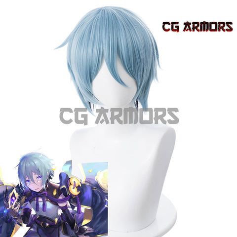 Fate Grand Order FGO Saber Prince Of Lan Ling 4th Gradient Light Bule Grey Cosplay Wig