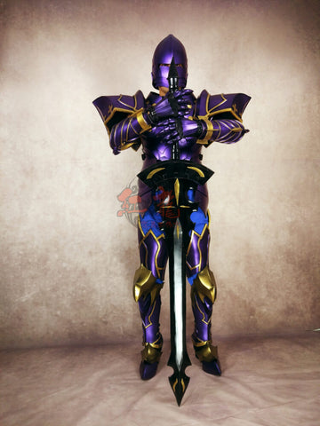 Fate Grand Order Lord of Joyous Gard Lancelot Purple Cosplay Armor