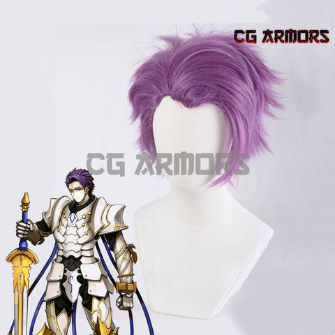 Fate Grand Order Saber Lancelot Purple Cosplay Wig - cgarmors