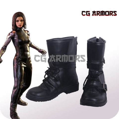Alita: Battle Angel Alita Black Cosplay Boots
