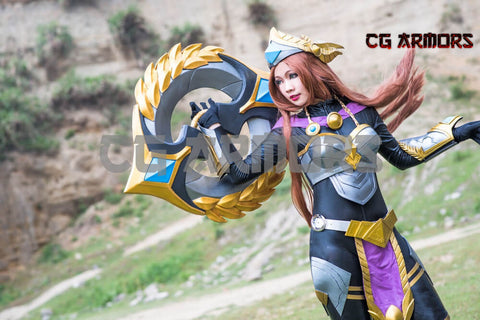 League Of Legends LOL Sivir Victorious Skin Cosplay Costumes & Armors & Weapon