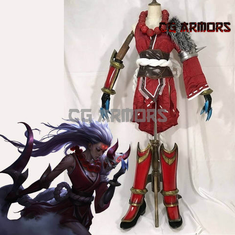 League Of Legends Scorn Of The Moon Diana Blood Moon Cosplay Armor - cgarmors