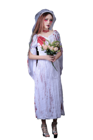 Bloody Ghost Bride Cosplay Costume 1