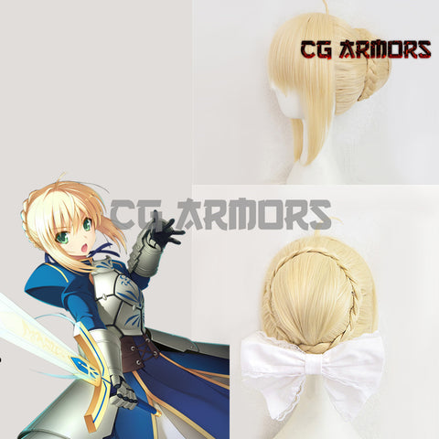 Fate Stay Night Fate Zero Saber Altria Pendragon King Arthur Yellow Cosplay Wig - cgarmors