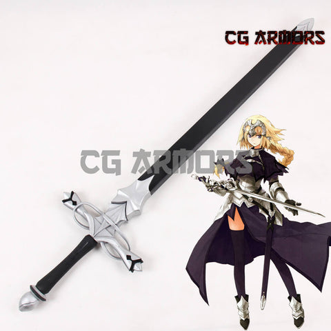 Fate Grand Order Ruler Joan Of Arc Jeanne D'Arc La Pucelle Silver Black Cosplay Sword - cgarmors