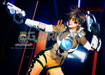 Overwatch OW Tracer Lena Oxton Cosplay Lightable Armor