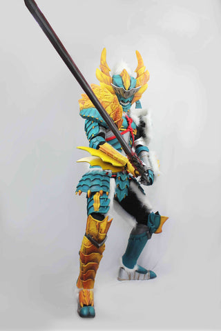 Monster Hunter Swordsman Zinogre Cosplay Armor Set