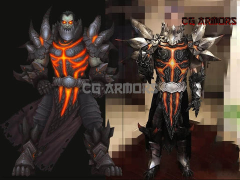 World Of Warcraft WOW Deathwing Neltharion Cosplay Armor - cgarmors